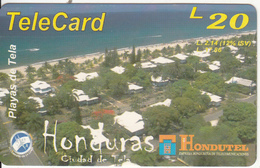 HONDURAS - Playas De Tela, Hondutel Prepaid Card L20, Used - Honduras