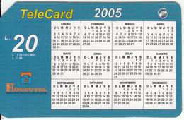 HONDURAS - Calendar 2005, Hondutel Prepaid Card L20, Used - Honduras