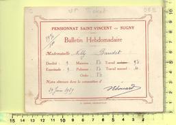 BELGIQUE, SUGNY: Pensionnat Saint-Vincent,  Bulletin Scolaire Hebdomadaire 29 Juin 1929 - Diplômes & Bulletins Scolaires