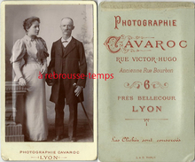 CDV Jolie Photo TB état-couple-jeune Femme Enceinte? Et Un Père Ou Un époux; Photo Cavaroc à Lyon - Photographs