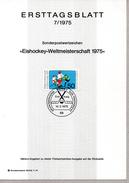 > GERMANIA, DDR ERSTTAGBLATT 1975 Mi 835 EISHOCKEY-WELTMEISTERSCHAFT 1975 - FDC: Fogli