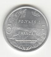 5 Francs Polynésie Française 1965 SUP - Colonie Française - Colonies
