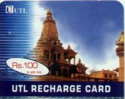 CDMA MOBILE PHONE PREPAID USED MINI RECHARGE CARD RS.100 UTL MOBILE NEPAL - Nepal