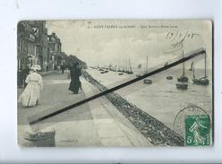 CPA   - St Saint Valéry Sur Somme - Quai Blavet à Marée Haute - Saint Valery Sur Somme