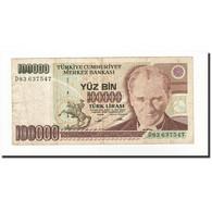 Turquie, 100,000 Lira, 1991, KM:205, SUP - Turchia