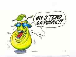 Carte Humour Signé Pépé On S'fend La Poire PP 5 - Humour