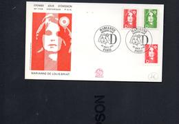 FDC France 1991 Marianne De Briat D PARIS 19 AOUT 1991 YT 2711 12 13 - FDC