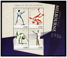 Guyana S/Sheet Mnh History Olympic Games Melbourne 1956 With Boxing/Wrestling And Others