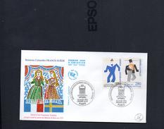 FDC France - Relations Culturelles France-Suède Paris 18/3/1994 YT 2868/69 - FDC