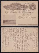 Uruguay 1905 Picture Stationery Card FABRICA LIEBIG FRAY-BENTOS To PORTLAND OREGON USA - Uruguay