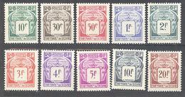 Oceanie: Yvert N° Taxe 18/27**; Le 19* - Oceania (1892-1958)