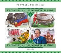 SOLOMON ISLANDS 2016 SHEET FOOTBALL RUSSIA 2018 WORLD CUP FUTBOL SOCCER SPORTS DEPORTES Slm16207a - Solomon Islands (1978-...)