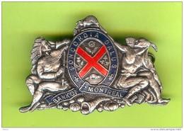 Ancien Pin / Insigne BMO Bank Of Montreal Concordia Salus Indiens Castor (2 Photos) 6cm X 4cm - #206 - Banken