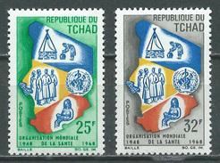 Tchad YT N°150/151 Organisation Mondiale De La Santé Neuf/charnière * - Tsjaad (1960-...)