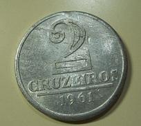 Brazil 2 Cruzeiros 1961 With Manufacturing Defect - Brésil