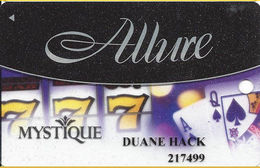 Mystique Casino - Dubuque, IA USA - Semi-Clear Slot Card - Casino Cards