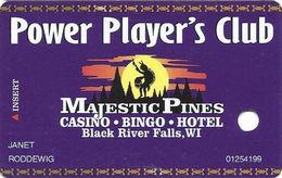 Majestic Pines Casino - Black Riverfalls, WI - 5th Issue Slot Card - No Web Address - Casino Cards