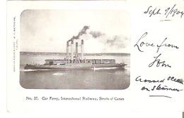 Car Ferry, Intercolional (Intercolonial) Railway, Straits Of Canso, Nova Scotia - Ferries