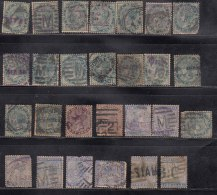 30 No's Commercial Local Overprint / Forwarding Agents, Overprints, British India Used QV & Edward Series, As Scan - 1852 Sind Province