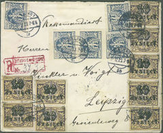1923 Poland Registered Inflation Cover To Leipzig GErmany - Poland