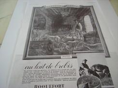 ANCIENNE PUBLICITE ROQUEFORT SOCIETE 1936 - Affiches