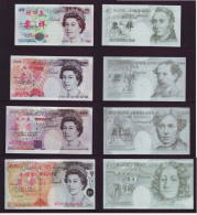 (Replica)BOC Bank Training/test Banknote,United Kingdom Great Britain POUND B Series 4 Different Note Specimen Overprint - [ 8] Fakes & Specimens