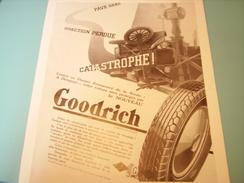ANCIENNE PUBLICITE PNEU GOODRICH 1932 - Advertising