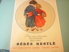 ANCIENNE PUBLICITE  LAIT CONCENTRE SUCRE BEBES NESTLE 1932 - Posters