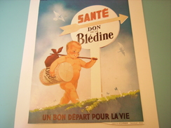 ANCIENNE PUBLICITE UN BON DEPART BLEDINE 1934 - Affiches