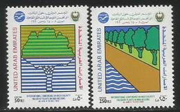 1990 United Arab Emirates High Salanity Plants Trees   Complete Set Of 2 MNH - Emirati Arabi Uniti