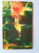 Dominica Phonecard EC$10 230CDMB Humming Bird