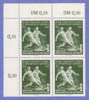 DDR SC #297-300 (set/4) MNH B4 1956 Sports Festival, Leipzig CV $10.60 (I) - [6] Democratic Republic