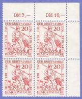 DDR SC #309 MNH B4 1956 Day Of The Stamp / Postrunner 1450, CV $2.00 - [6] Democratic Republic