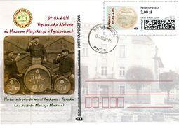 B 520) Polen Pyskowice Toszek AK SM O, Tost Burgbräu Bier Alkohol Brauerei Bock Museum