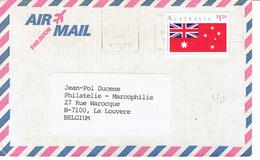 Lettre De George Worsfold, Canberra, Australie à La Louvière (Belgium) Avec Timbre Australia Day 1991 - 1990-99 Elizabeth II