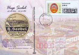 B 519) Polen Gleiwitz Schlesien AK SM O, SCOBEL Bier Alkohol Brauerei Märzen