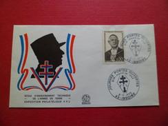 Lettre Illustrée Général De Gaulle FFL N°1698 Journées P.O. Bir Hakeim Issoire 2/7/1972  Ecole De L'Armée De Terre .. TB - Military Postmarks From 1900 (out Of Wars Periods)