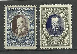 LITAUEN Lithuania 1933 Michel 359 - 360 A MNH - Litauen