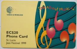 St Lucia Phonecard EC$20 288CSLB Jazz Festival 1999 - Saint Lucia
