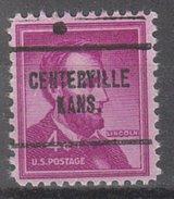USA Precancel Vorausentwertung Preos Locals Kansas, Centerville 704