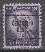 USA Precancel Vorausentwertung Preos Locals Kansas, Centralia 704
