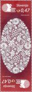 1261/ Slowenien Slovenia 2016 Mi.No. 1211 ** MNH Pair Idria Lace Spitze - Textil
