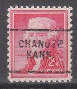 USA Precancel Vorausentwertung Preos Locals Kansas, Chanute 703