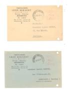 Lot De 2 Cartes Postales Pré Imprimées - Tréfileries Léon BEKAERT à RUISBROEK 1945 (k) - Drogenbos
