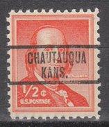 USA Precancel Vorausentwertung Preos Locals Kansas, Chatauqua 813
