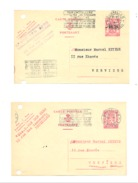 Lot De 2 Cartes Postales Pré Imprimées - Ets S. VAN BERG , Meubles,... à BRUXELLES 1946 (k) - Drogenbos