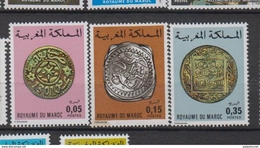 Maroc YV 756/8 N 1976 Monnaies Anciennes - Morocco (1956-...)
