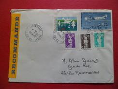 Lettre Recommandée Affranchissement Muticolore De Ste Foy Tarentaise 9/4/1991 Les N°2617;2618;2619;2690 & P.A. N°57   TB - Marcophilie (Lettres)