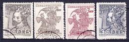 Tchécoslovaquie 1948 Mi 535-8 (Yv 467-70), Obliteré - Used Stamps