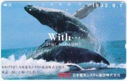 JAPAN F-923 Magnetic NTT [110-011] - Animal, Sea Life, Whale - Used